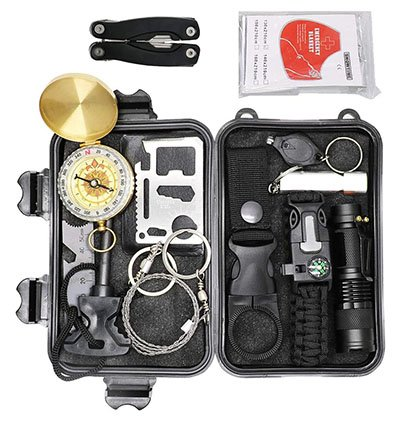 12 in 1 Camping Survival Gear Kits Set