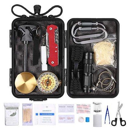 Lixada Emergency Survival Kit 23pcs