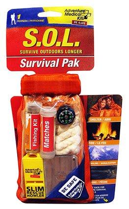 S.O.L. Survive Outdoors Longer Waterproof Scout Survival Kit