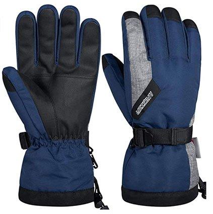 Anqier Thermal Gloves, Waterproof Winter Gloves for Men & Women