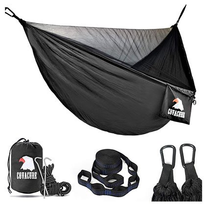 COVACURE 2-Person Camping Hammock with Mosquito Net