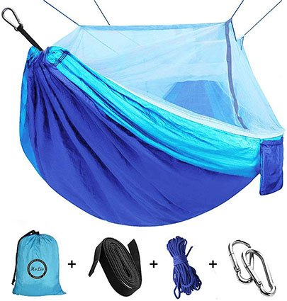 HoLiv Camping Hammock with Mosquito Net
