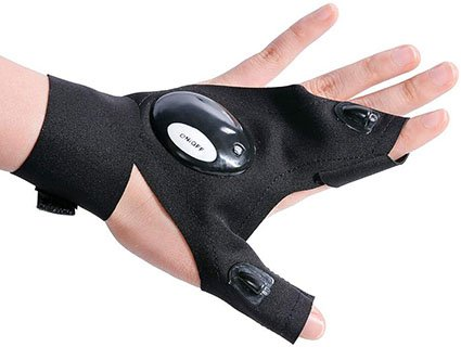 Miwaimao Outdoor Sports Gloves with LED Light Survival Feature