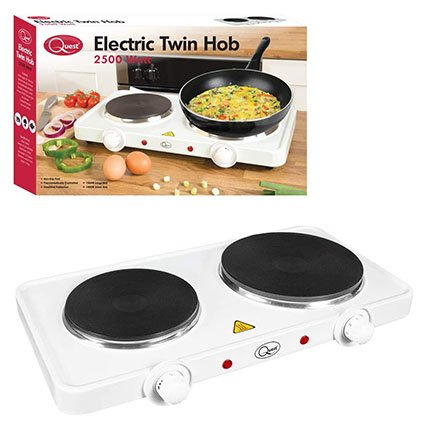 Quest Electric Twin Hob