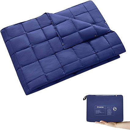 KingCamp Multifunctional Ultralight Camping Blanket with Snap Buttons