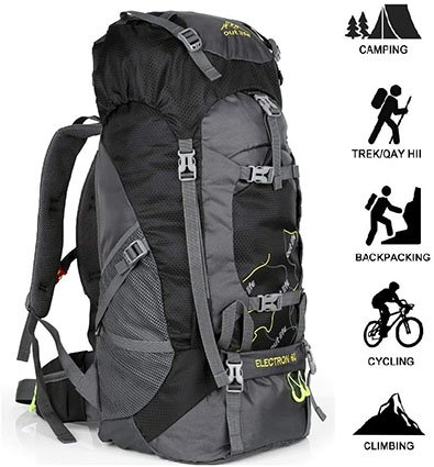Outlife Hiking Backpack 60 L for Men and Women