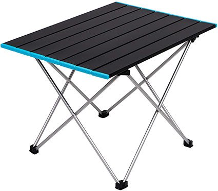 Stream Folding Camping Table with Carry Bag