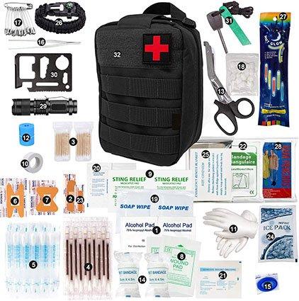Elikliv First Aid Kit, 250 Pieces Mini Small First Aid Kit