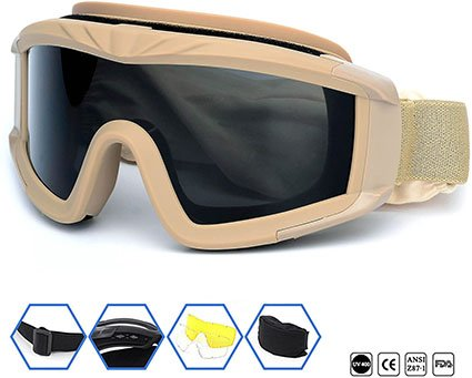 SPOSUNE Outdoor Tactical Goggles