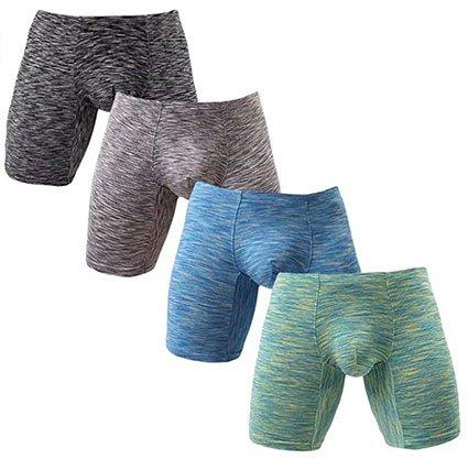 YuKaiChen Men's No Ride Up Boxer Long Leg Briefs