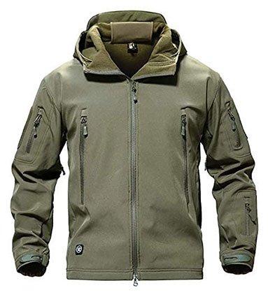 Oloey Men's Tactical Softshell Fleece Jacket